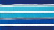 ShawsDirect Velour Beach Towel - Miller Stripe Blue - Free P & P