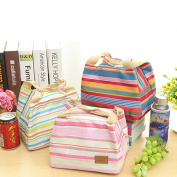 EQLEF® Reusable Picnic Bag Zipper Closure Heat Preservation Lunch Bag For Adults Kids