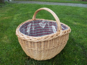 Boiled willow shopping basket with Lining
