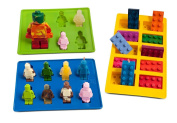 Joyoldelf Silly Candy Moulds & Ice Cube Trays for Building Bricks and Figures Lovers