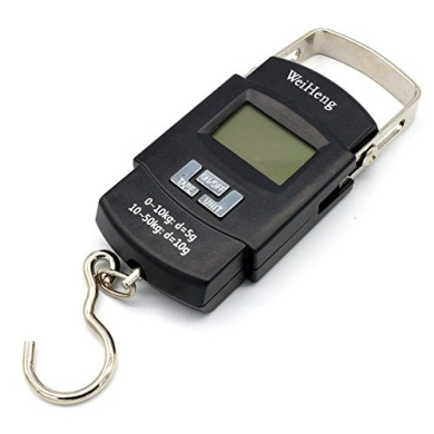 50kg Portable Electronic Digital Hanging Travel Luggage Weighing Weight Scales