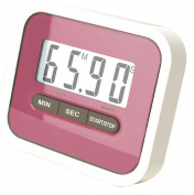 KingWinX Digital LCD Magnetic Kitchen Cooking Timer, Pink