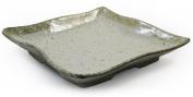 Beige Glazed Japanese Ceramic Square Plate