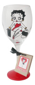 Betty Boop '18th Birthday' Hand Painted Wine Glass 340ml - Officially Licenced Merchandise by Memories-Like-These UK