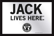 """Empire Merchandising 537812 Printed Mirror with Plastic Frame with Wood Effect Featuring Jack Daniel's Whiskey Logo """"Jack Lives Here"""" 30 x 20 cm"""