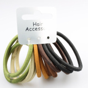 12 Natural Coloured Endless Hair Elastics IN6025