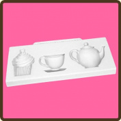 KATY SUE DESIGNS - Cake Cupcake Silicone Mould - Afternoon Tea