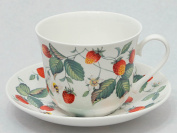 Roy Kirkham Alpine Strawberry Chatsworth breakfast cup and sauce