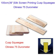"100cm(39"") Silk Screen Printing Cusp Squeegee Oliness 75 Durometer"