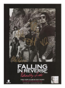 Falling In Reverse Autographed Signed A4 21cm x 29.7cm Photo Poster
