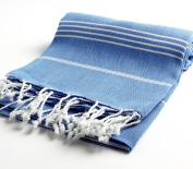Pestemal Turkish Bath Towels 95x170 cm for Bath Hamam Sauna Gym Unisex TM by Cacala Night Blue