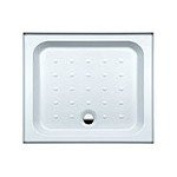 Coram Showers YD974WHI 900 x 760mm 4-Tiling Upstand Shower Tray
