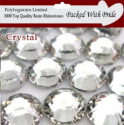 Pack of 1000 x Crystal 2mm Crystal Flat Back Rhinestone Diamante Gems *Factory Sealed & Labelled*