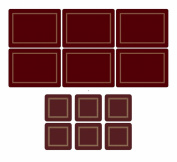Pimpernel Classic Burgundy, 6 Placemats + 6 Coasters