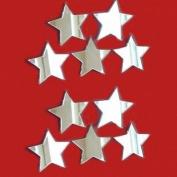 Decorative Mini Star Mirror Bundle - Pack of Ten (6 x 6 cm) - Mirrored