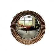 New Small Round Gold Convex Porthole Mirror, 23cm