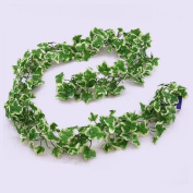 Variegated chainlink Ivy garland Artificial silk 1.8m / 173cm with 180 leaves