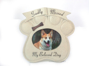 Memorial Paw Print Photo Frame For A Sadly Missed Dog