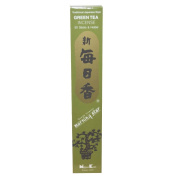 Green Tea Morning Star Quality Japanese Incense by Nippon Kodo - 50 Sticks + Holder