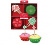 30 Christmas Cupcake Cases & Toppers