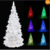 Colour Changing Icy Crystal LED Christmas Tree Decoration Night Light Lamp
