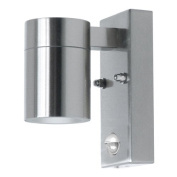 Ranex Arezzo Brushed Stainless Steel Wall Light With Movement Sensor, 35w Gu10 (incl) Ip44