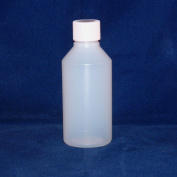 BuyBottlesAndCans.com 100ml Clear HDPE Plastic Bottles with Screw Tops X 5