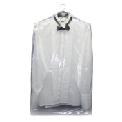 """Hangerworld Pack of 15 Clear Polythene Garment Cover Clothes Bags - 38"""""""