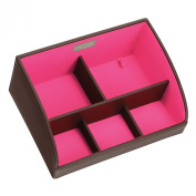 SPECIAL OFFER - Chocolate Brown Desk Storage Caddy with Pink Lining
