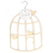 Cream Bird Cage Scarf - Belt or Tie Hanger