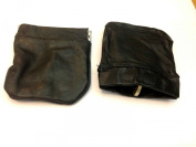 MENS LADIES BLACK REAL LEATHER COIN POUCH PURSE WALLET