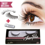 Professional False Eyelashes with Glue Set By Iris in Paris ★ Thin and Natural ★ Perfect for Beginners ★ Kim Kardashian's Choice