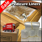 400 Pcs. [2 Boxes] Pedicure Liners for Spa Nail Salon Beauty Massage Foot Feet Soft Plastic with High Quality Elastic Band [$0.20 Each]