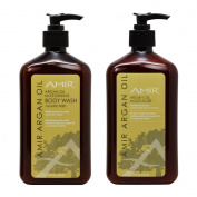 "Amir Argan Oil Moisturising Body Wash & Moisturiser 530ml ""Set"""