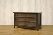 Franklin & Ben Arlington Double Wide Dresser, Rustic Brown