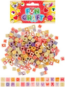 CRAFT KIT BEADS ALPHABET CUBES 35G ASTD COLS