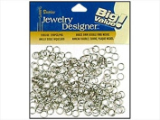 Darice & Catan Floral DAR1880.96 Double Ring 6 Mm. Nickel Plate Brass, 288 Piece - Pack Of 3