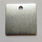 RMP Stamping Blanks, 2.5cm Square Blank With Hole, Aluminium .160cm (14 Ga.)- 100 Pack