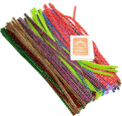 """100 Tiger Tail Pipe Cleaners 12"""" X 6mm"""