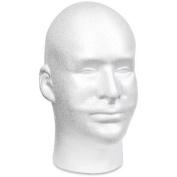 Styrofoam Head EPS Male Bulk-White