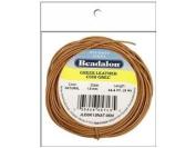 Beadalon BDAJLEGK-15.NAT5M Greek Leather Cord Pkg 1.5 mm., 5M Natural