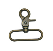 Tianbang Bronze 5.1cm Inside Diameter Oval Ring Lobster Clasp Claw Eye Hole for Strap Pack of 6