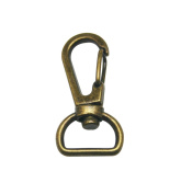 Tianbang Bronze 1.4cm Inside Diameter D Ring Lobster Clasp Claw Swivel for Strap Pack of 15