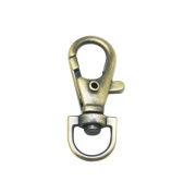 Tianbang Bronze 1cm Inside Diameter Oval Ring Lobster Clasp Claw Swivel for Strap Pack of 15