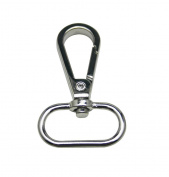 Tianbang Silvery 2.5cm Inside Diameter Oval Ring Lobster Clasp Claw Swivel for Strap Pack of 10