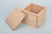 Handmade natural wooden square box with lid craft blank for decoration
