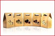 50 Pieces10cm*15.5cm+6cm Bottom *140Mciron Kraft Paper Stand Up Bags Nuts Packaging Bags Coffee Bags