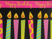 Bright Candles Birthday Gift Wrap Paper 4.9m Roll