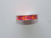 CraftSmart 100% Polyester 1.6cm . x 2.7m Decorative Diamond Pattern Ribbon - Great for Any Occasion!