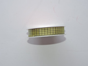 CraftSmart 100% Polyester 1.6cm . x 2.7m Decorative Yellow Checker Ribbon - Great for Any Occasion!